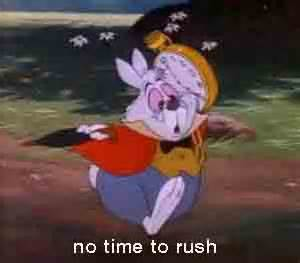 no time to rush