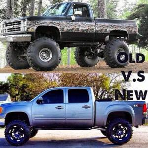 old and new chevy